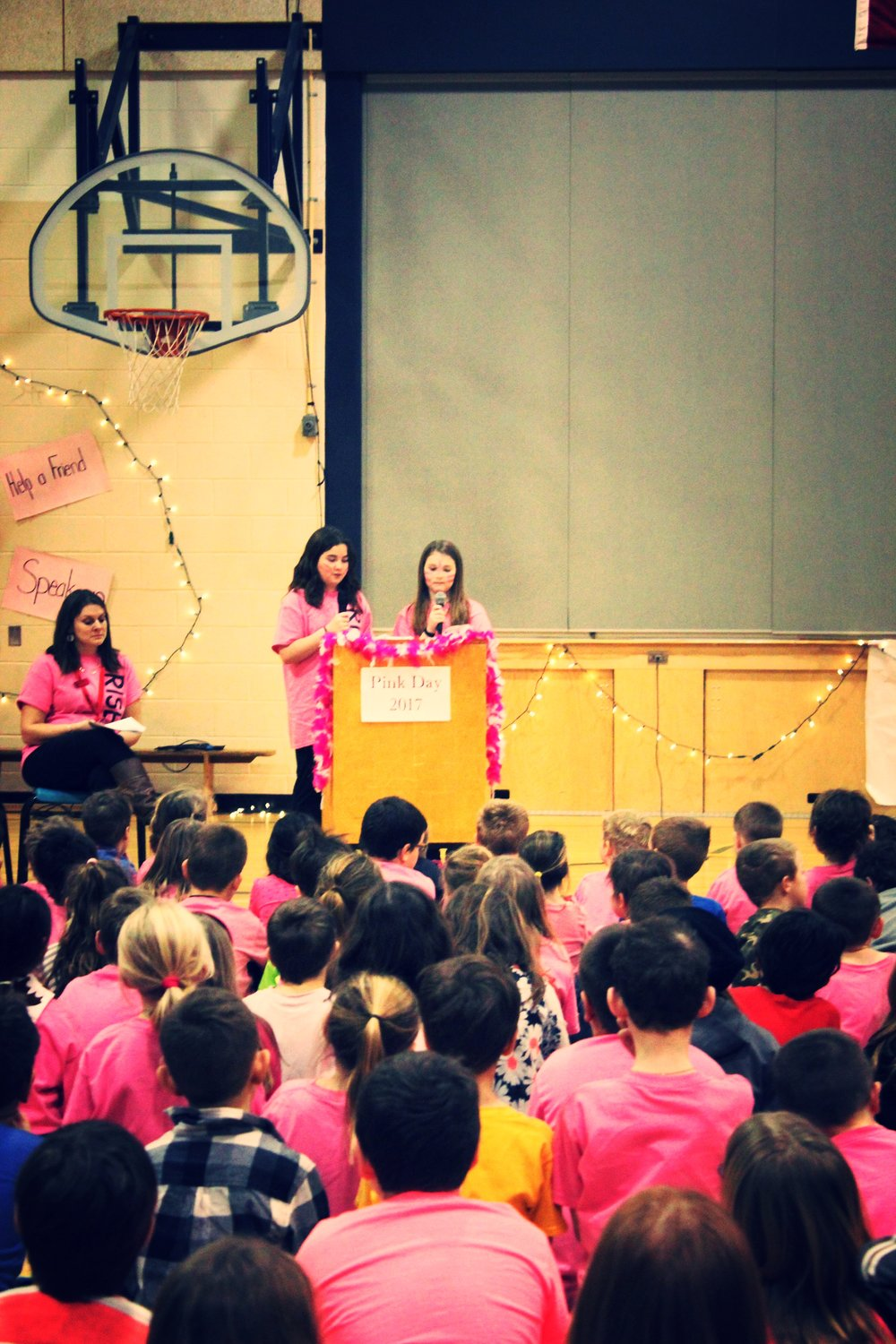Pink Shirt Day - our whole school had an assembly to share what it means to be a friend and how to include each other. This is a day where we focused on the importance of working together to make our world a better place for all! Working together to make a difference, using our kind words, inclusion and sharing to allow everyone to feel safe, accepted and happy.