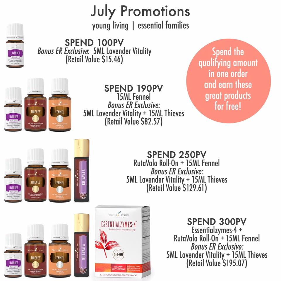 July 2017 Young Living Promo items