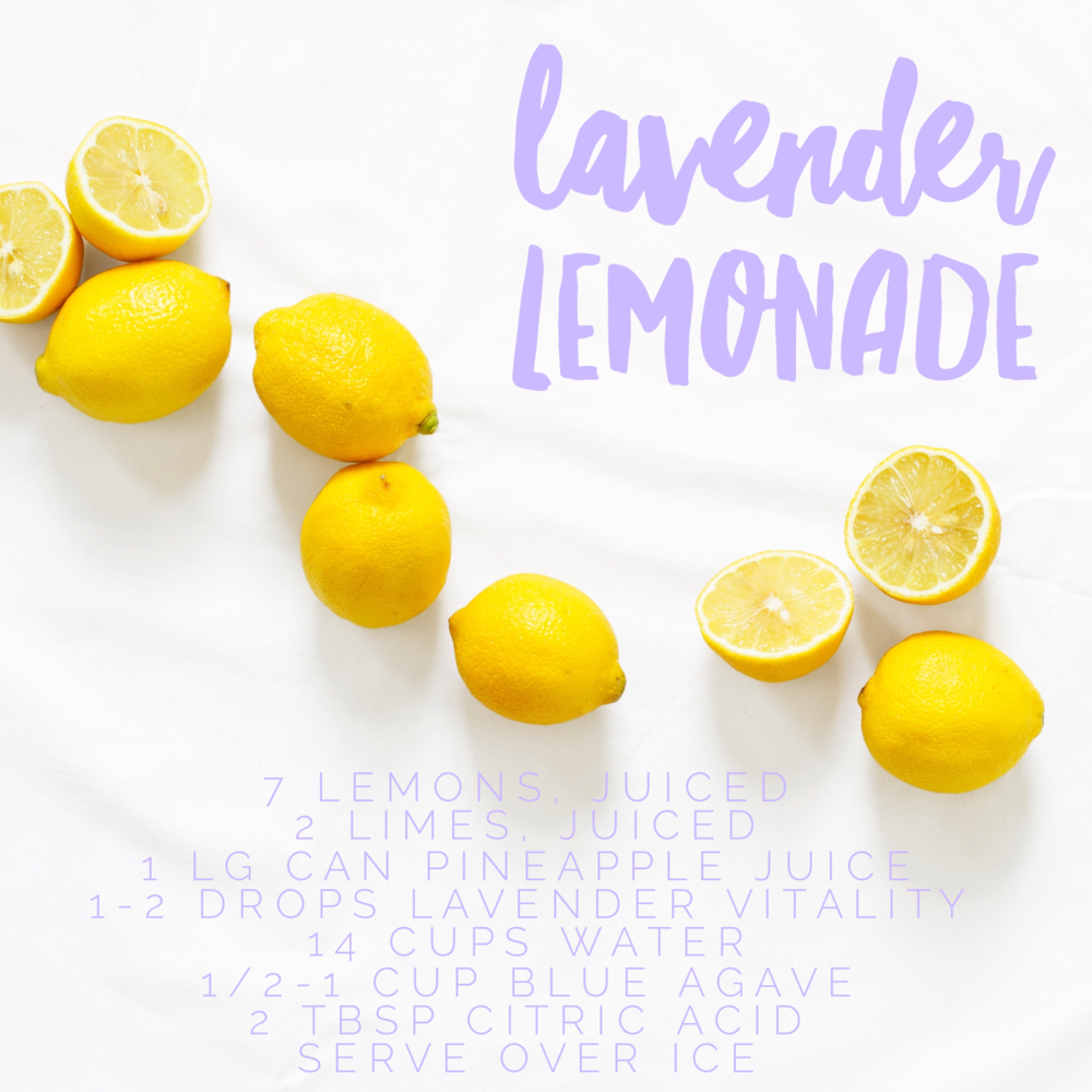 Lavender Lemonade Young Living recipe