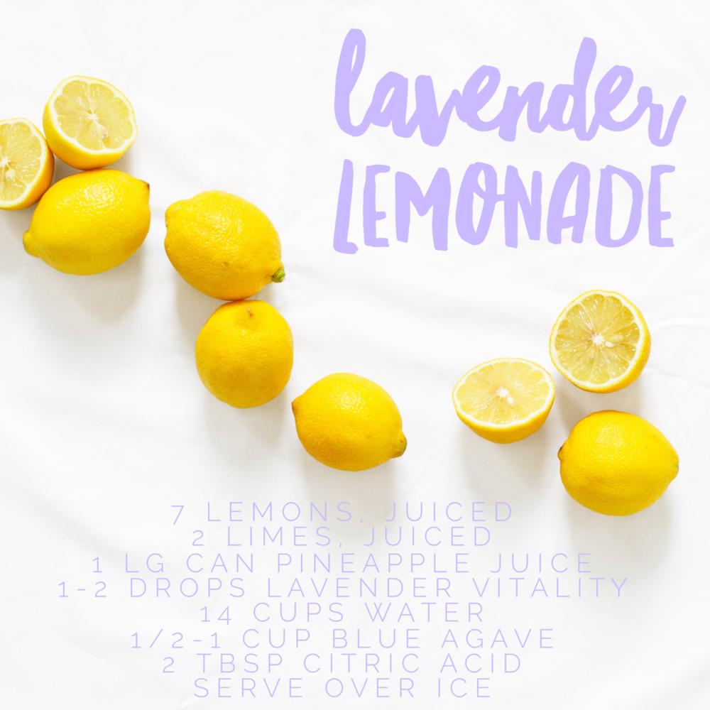 Lavender Lemonade Young Living recipe
