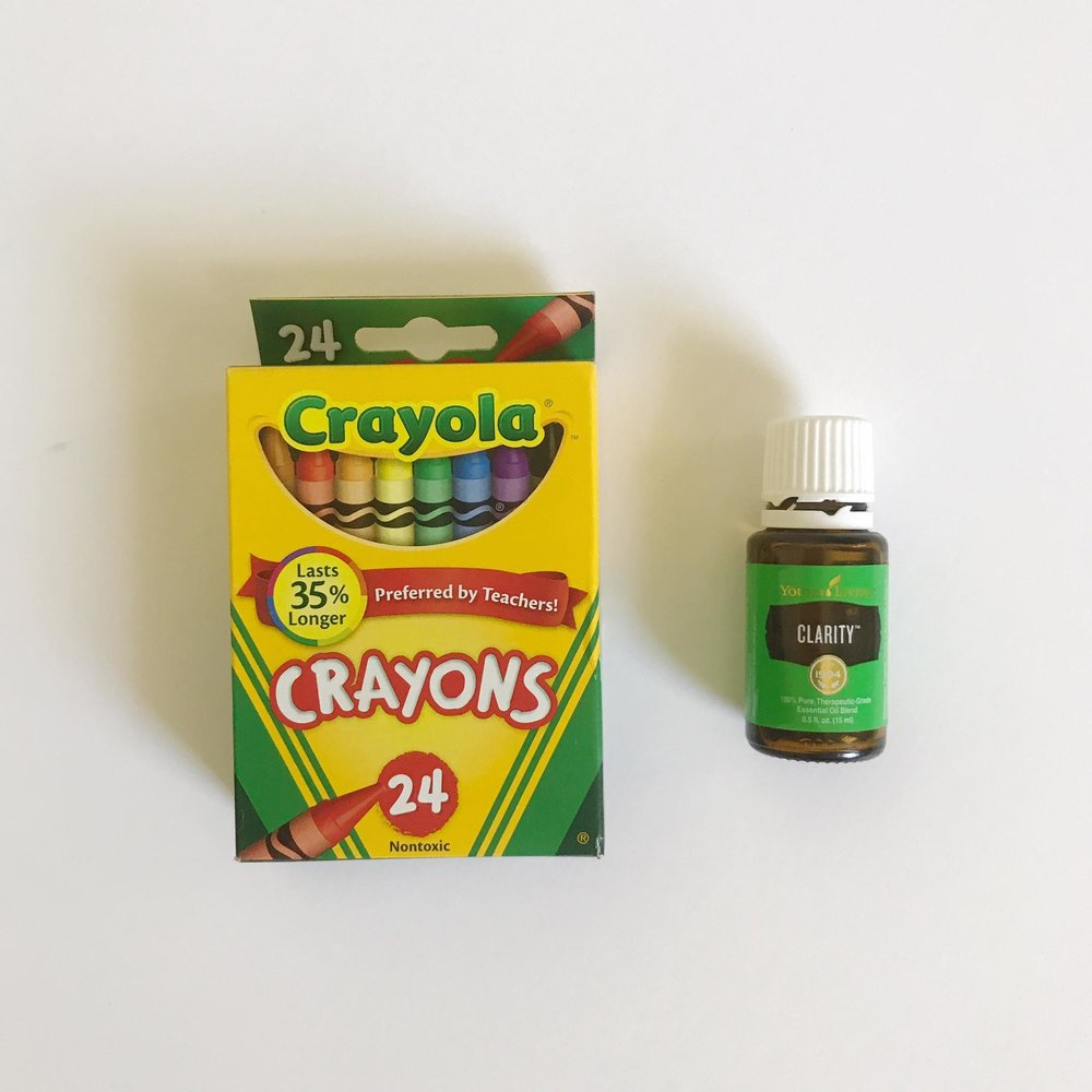 Clarity Essential Oil and Crayons
