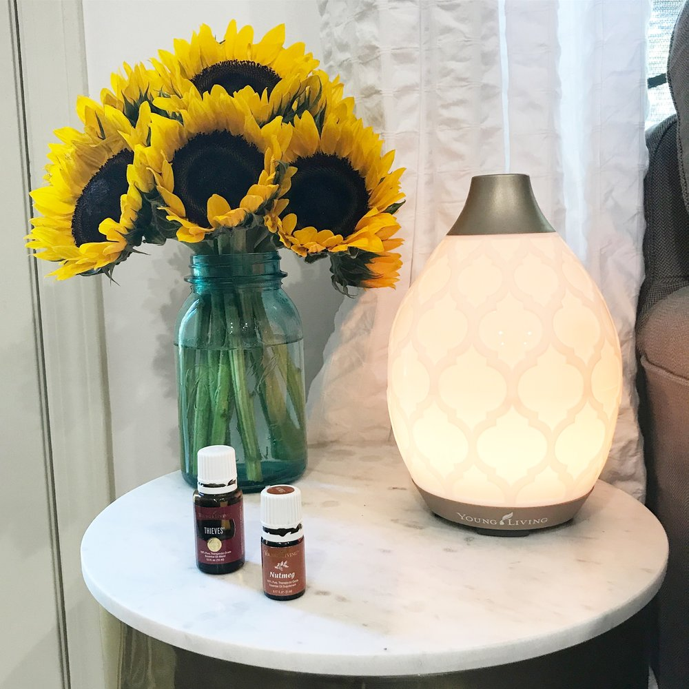 Fall Diffuser Blend Thieves Nutmeg Young Living Essential Oils