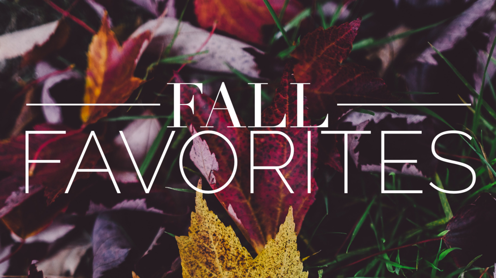 fall favorites graphic