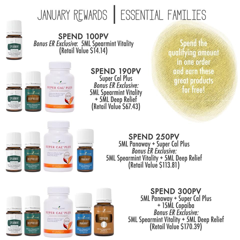 January 2018 Young Living Essential Families freebies promos.JPG