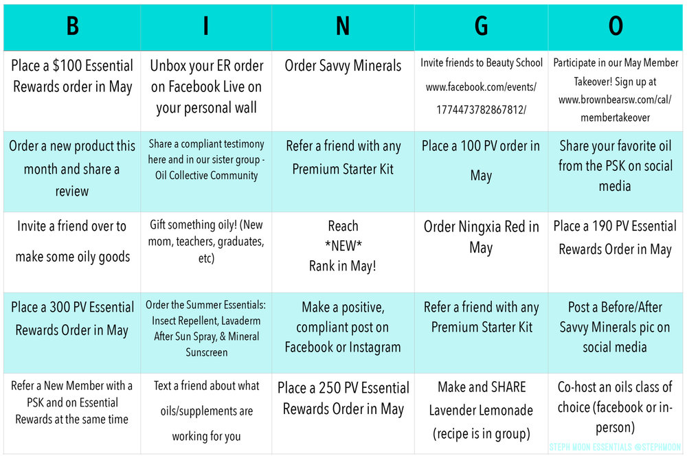 Bingo May 2018 Young Living Steph Moon Essentials.JPG