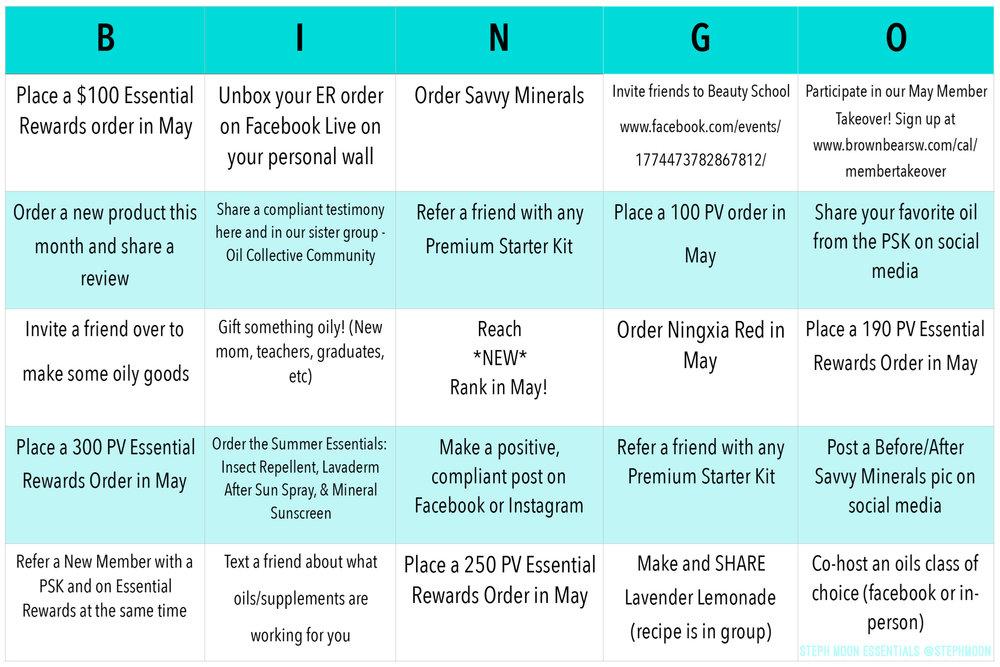 Bingo May 2018 Young Living Steph Moon Essentials.JPG