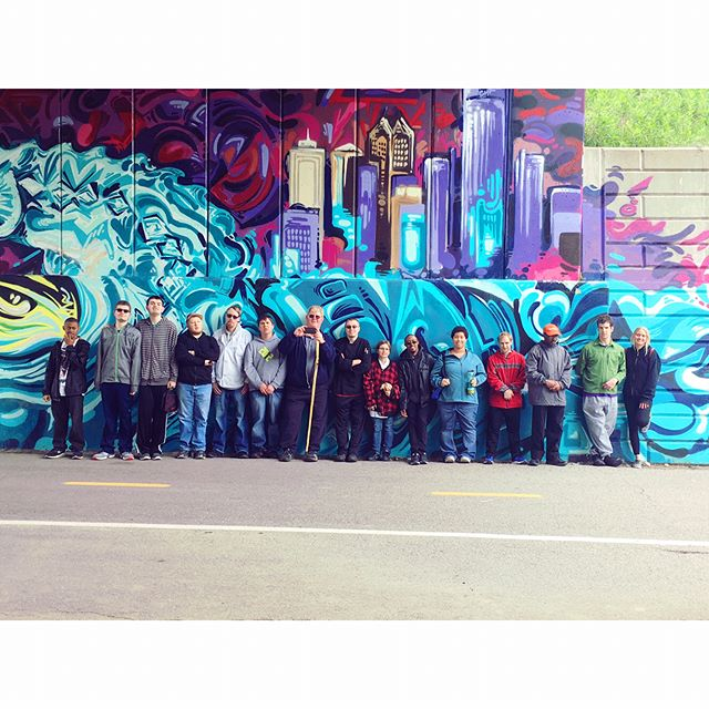 Round 2: Eastern Market and Dequindre Cut CBI.  Thank you @russellstreetdeli for the fabulous lunch! 🍞🥗🌯🥓 #dequindrecut #easternmarket @easternmarket #cbi #communitybasedinstruction #exercise #rsa #risingstarsacademy #nightunderthestars