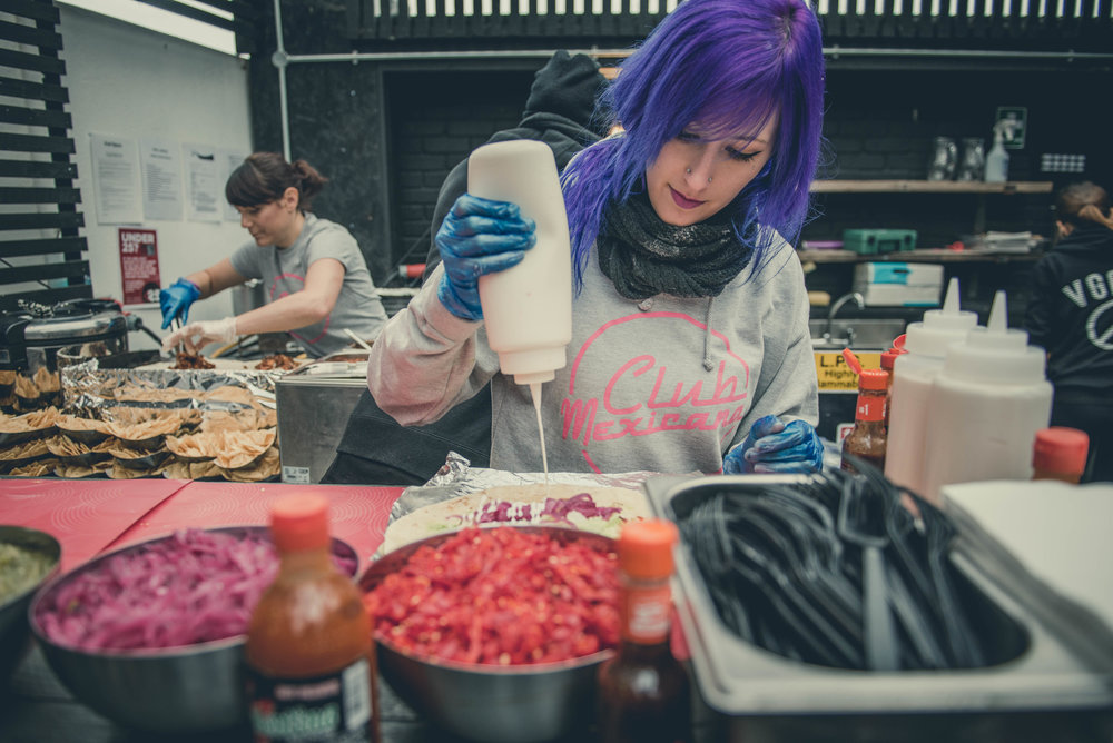 Club Mexicana making Burritos at Vevolution 2016