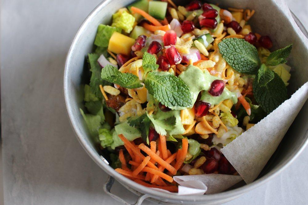 Vegan Gluten Free Bhel Puri Bowls by Guac and Roll