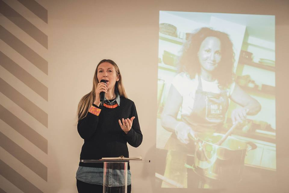 Sarah Bentley, Founder of Made In Hackney speaking at Vevolution Topics in February 2017