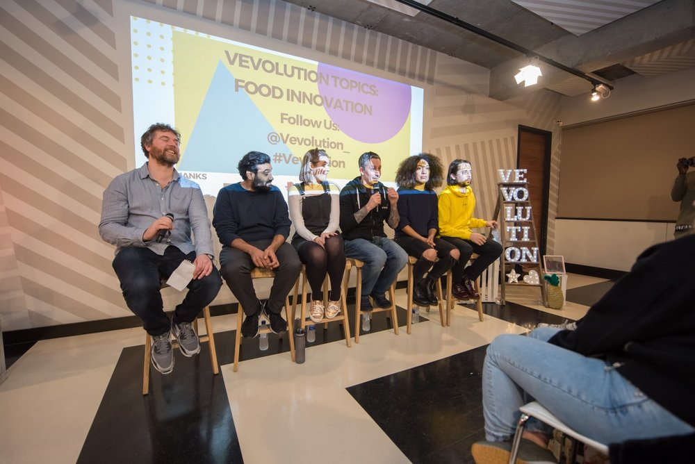 Picture: Panel at Vevolution Topics: Food Innovation: Damien Clarkson, Proof from Proofs place, Ellie Brown, Derek Sarno, Roxy Pope, Ben Pook