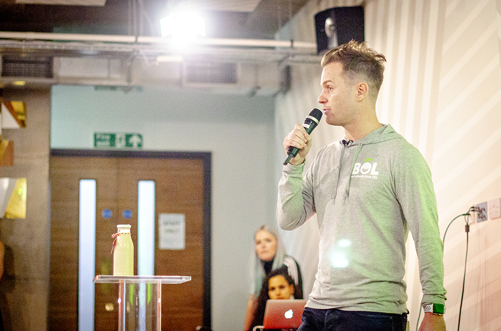 Paul Brown, Founder of BOL speaking at Vevolution Topics Environment 2018