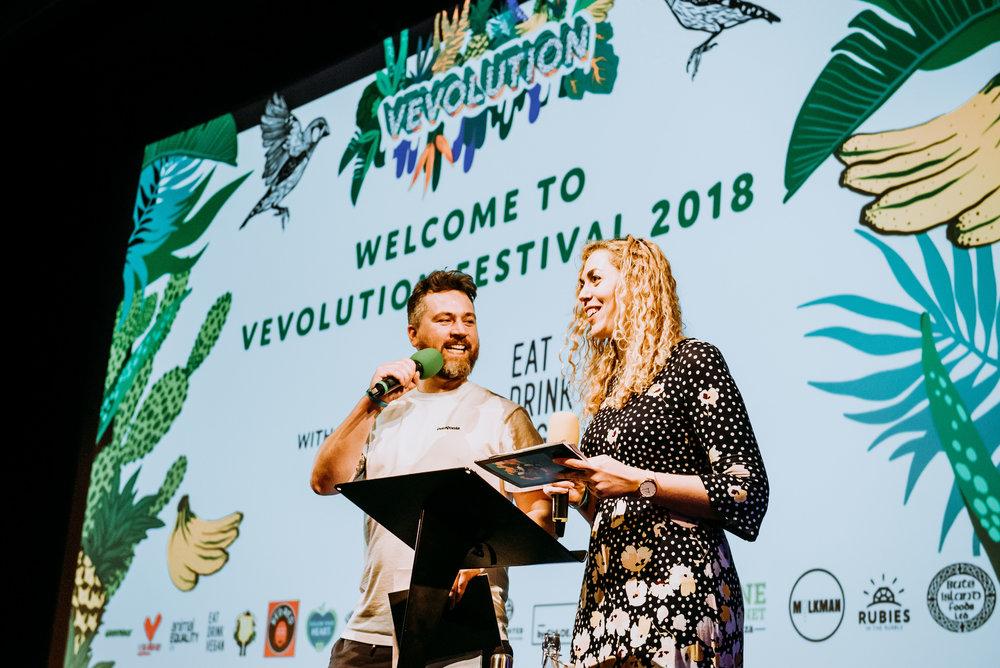 Damien & Judy's opening speech at Vevolution Festival 2018