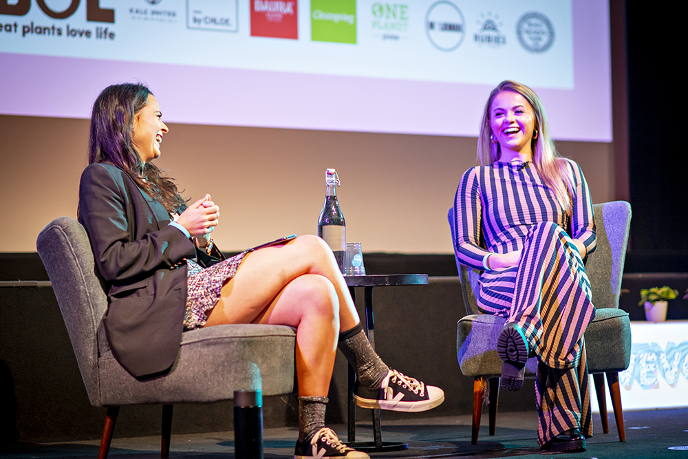 Venetia Falconer in conversation with influencer Stefanie Moir (Naturally Stefanie) at Vevolution Festival 2018