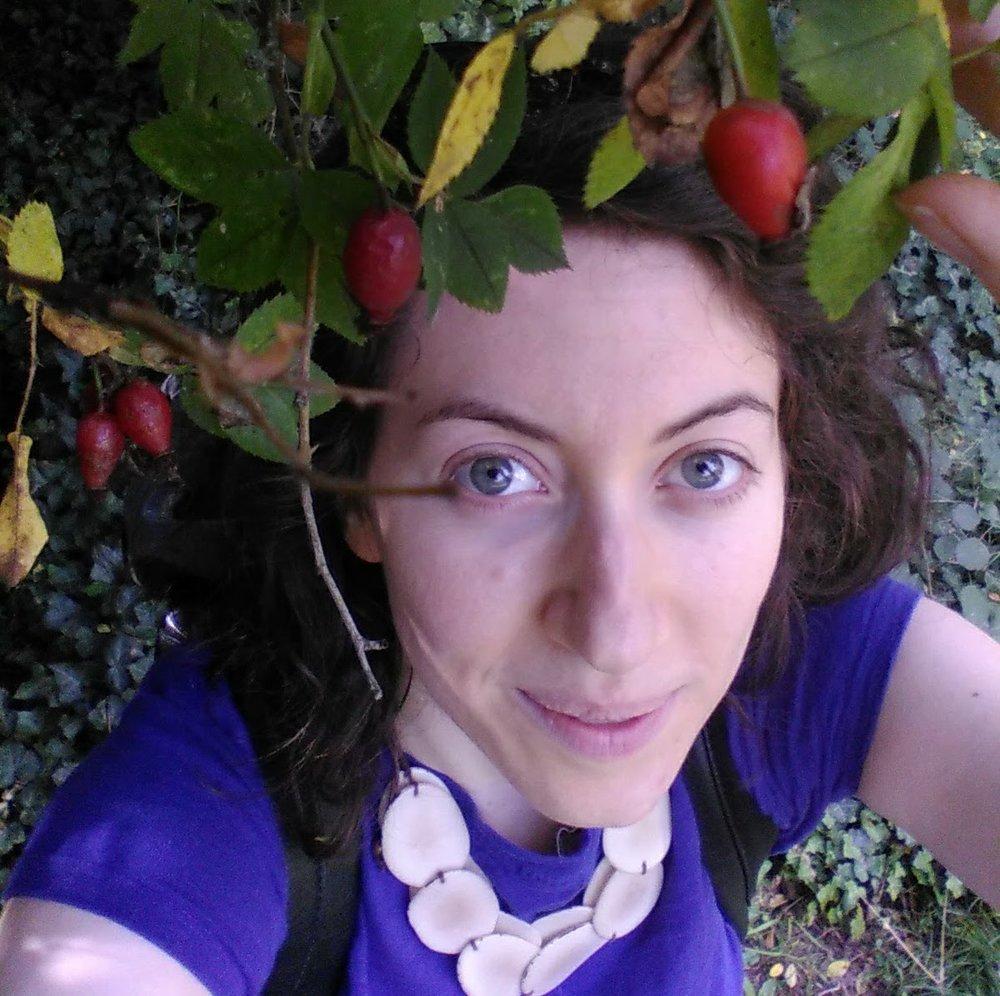 Fran picking wild rosehips.jpg