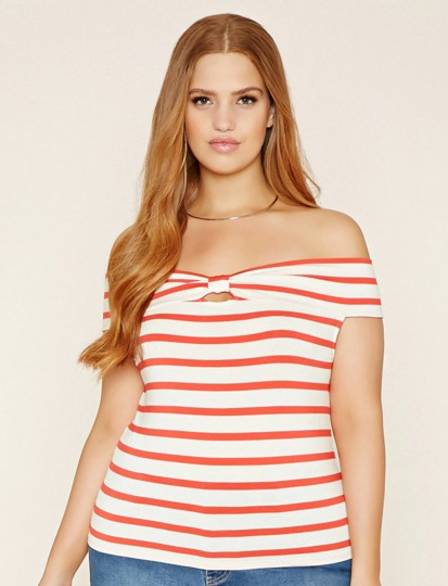 Plus Size Off the Shoulder Top   Forever 21 PLUS   2000171114.jpeg