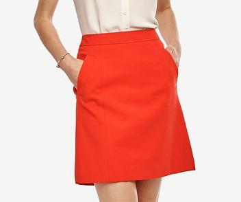 Compact Twill Skirt   Ann Taylor.jpeg