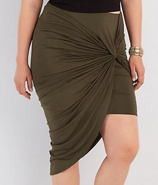 Plus Size Knotted Asymmetrical Skirt   Charlotte Russe.jpeg