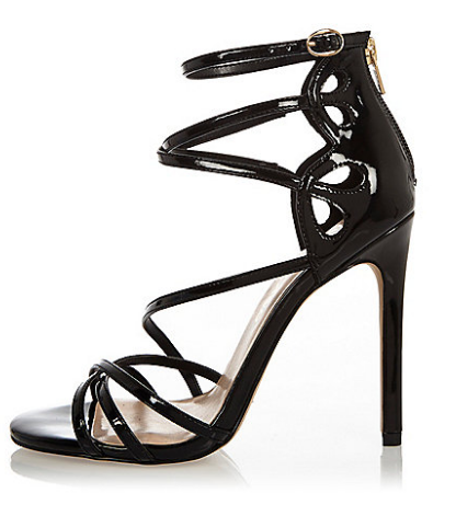 Black patent wide fit strappy heels   sandals   shoes   boots   women.png