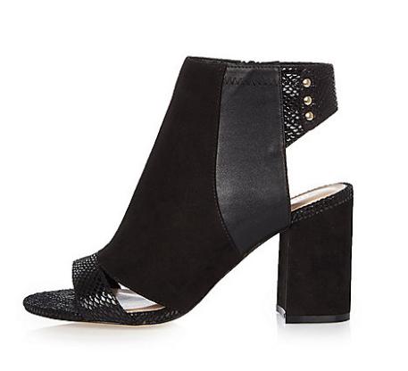 Black panel wide fit shoe boots   shoes   shoes   boots   women.png