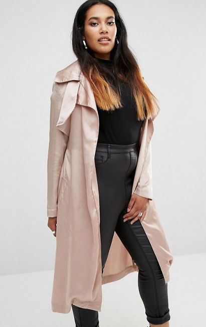 Missguided Plus   Missguided Plus Satin Trench Coat.png