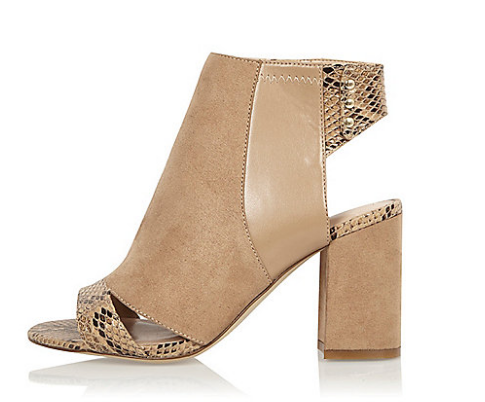 Nude print panel wide fit shoe boots   shoes   shoes   boots   women.png