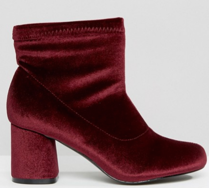 Truffle Collection   Truffle Round Heel Velvet Ankle Boot.png