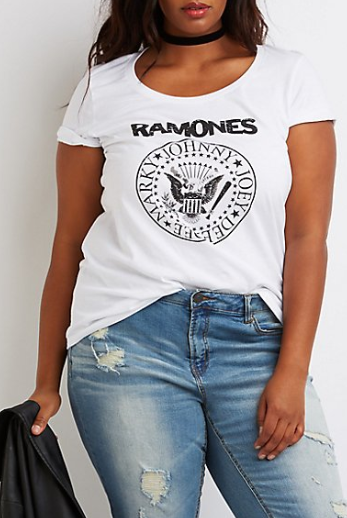 Plus Size Ramones Graphic Tee   Charlotte Russe.png