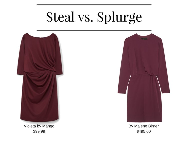 Draped Dress - Violeta by Mango