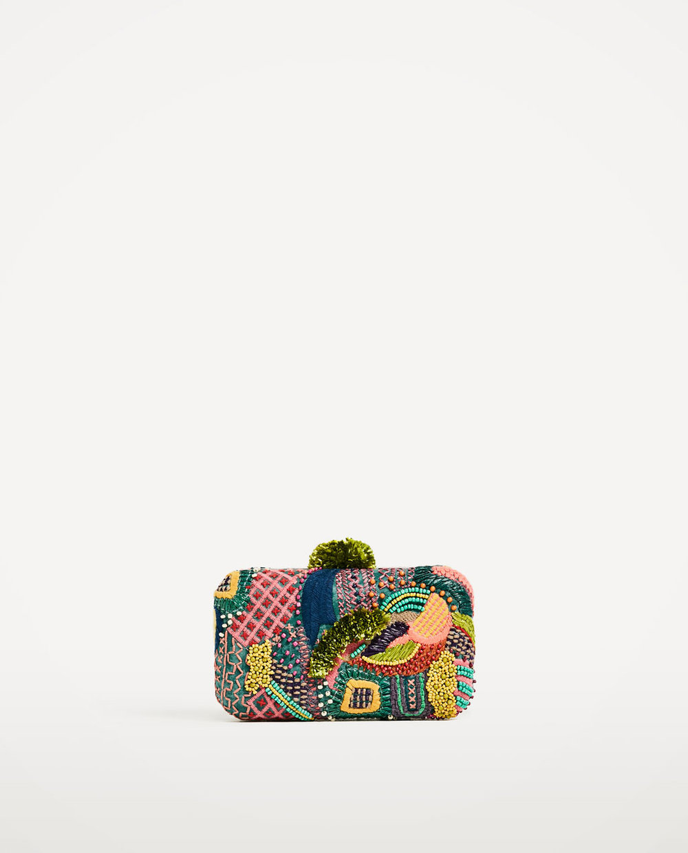 Zara Multi-Colored Fabric Minaudiere