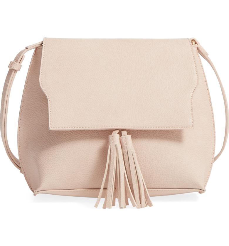 Sole Society Tassel Faux Leather Crossbody Bag - Nordstrom