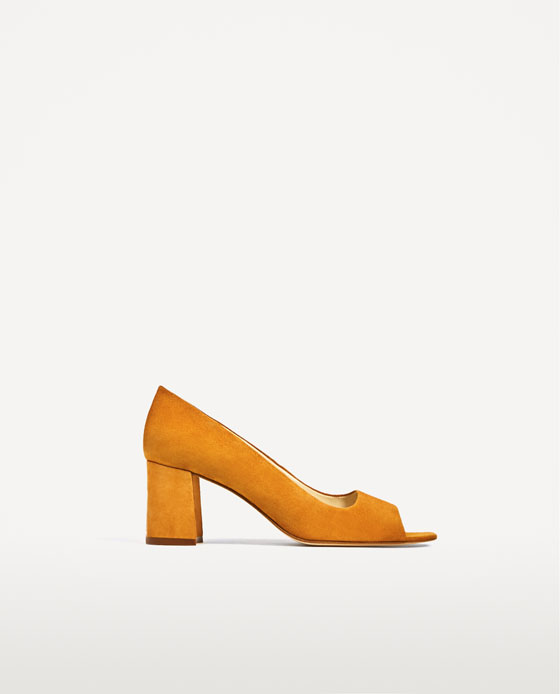 Zara Open Leather High Heel Shoes