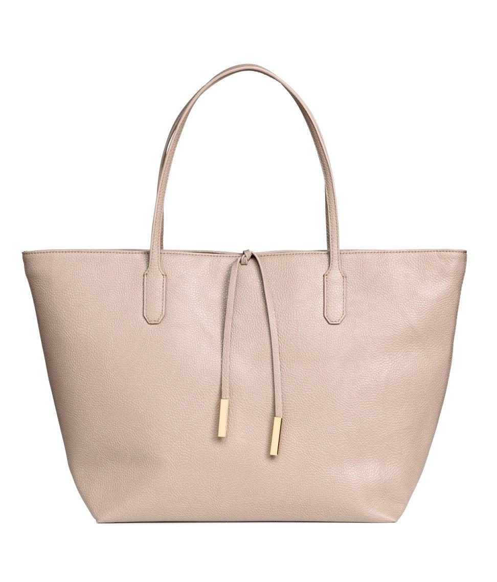 H&M Taupe Shopper Bag