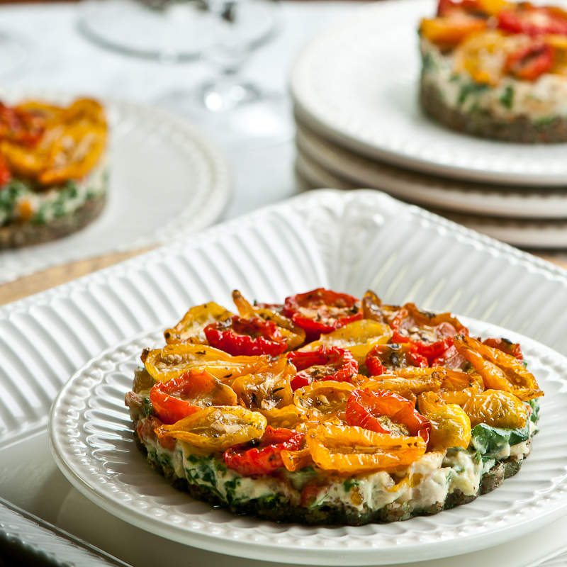 Tomato & Spinach Tart - Raw Amazing