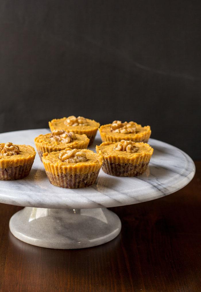 No Bake Pumpkin Pie Tarts - Running on Real Food