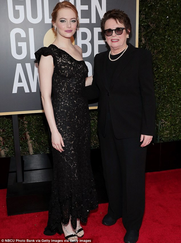 Emma Stone attedned with Billie Jean King, longtime activist