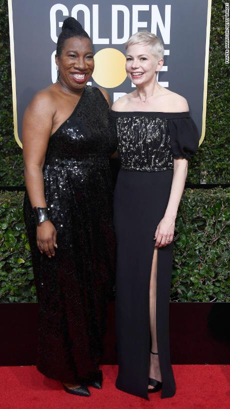 Michelle Williams attended with Tarana Burke, founder of #MeToo