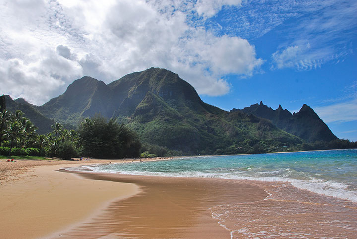 This is the Hanalei beach - a 10 minute walk/ 2 min drive from the house.
