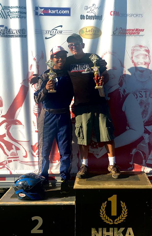 Blake and his racing mentor NHKA Race Director Mike Camarra on the podium