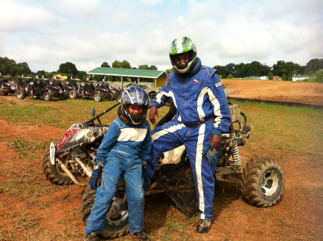 Blake and his dad at Camp Motorsports