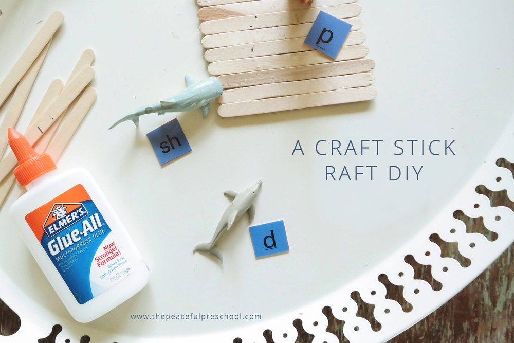 The Peaceful Preschool // Craft Stick Raft DIY