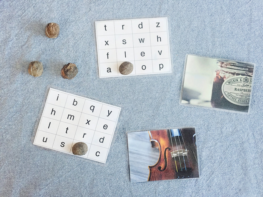 The Peaceful Preschool // Picture Word Cards