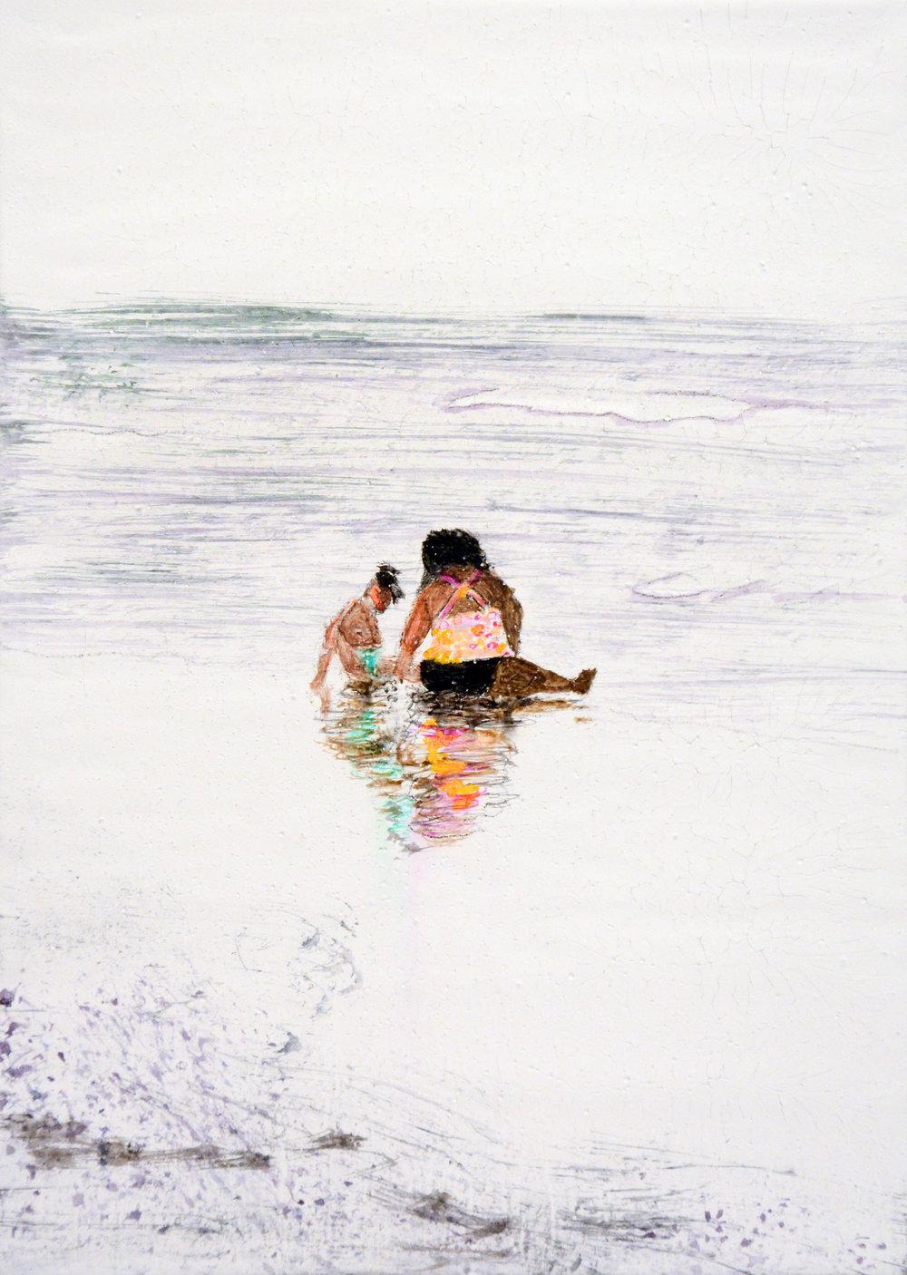 Mother & Child, Cloudy Day, Carolina Beach