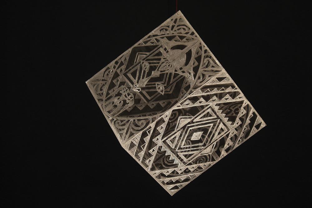 Universe Cube   George Nuku, carved perspex