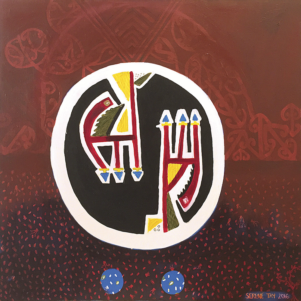 Maia Brave Warrior  Serene Hai Thang Whakatau Tay, oil on canvas (2016)