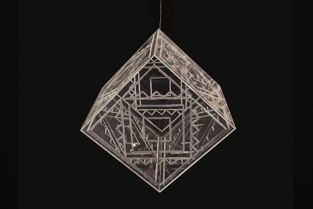 Star Cube   George Nuku, carved perspex