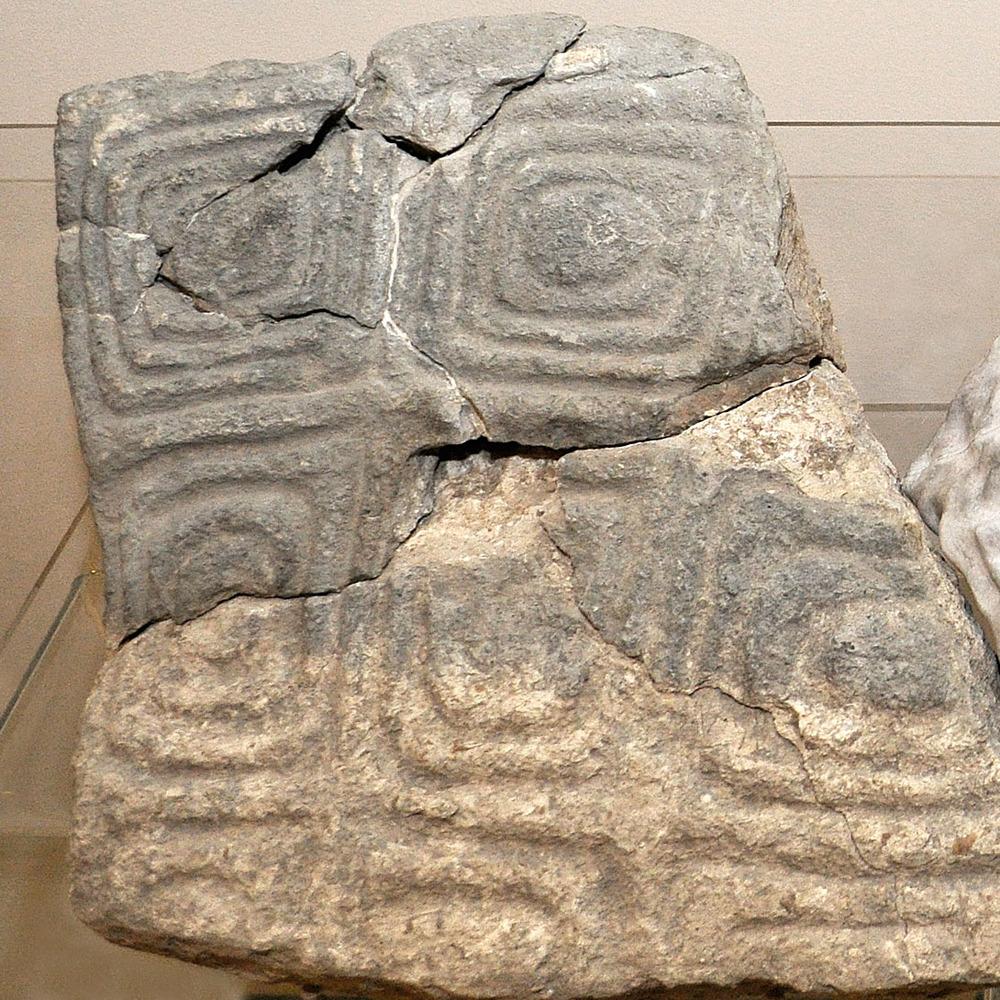 Engraved stone, c.12,000 BCE, Natufian culture, Jordan