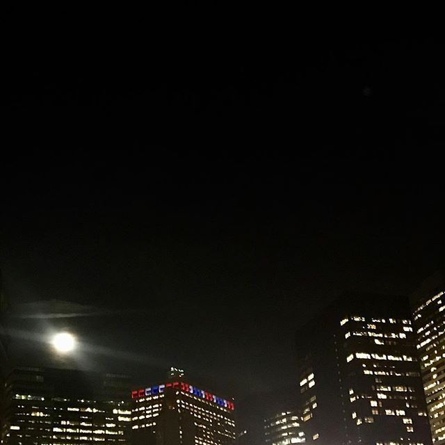 The moon, shone brightly.