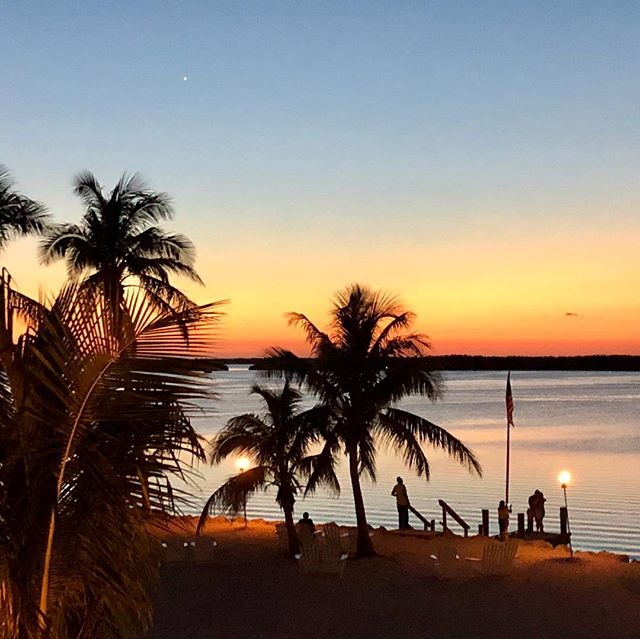 Watched a magnificent sun set while dining at Pierre's in Islamorada.