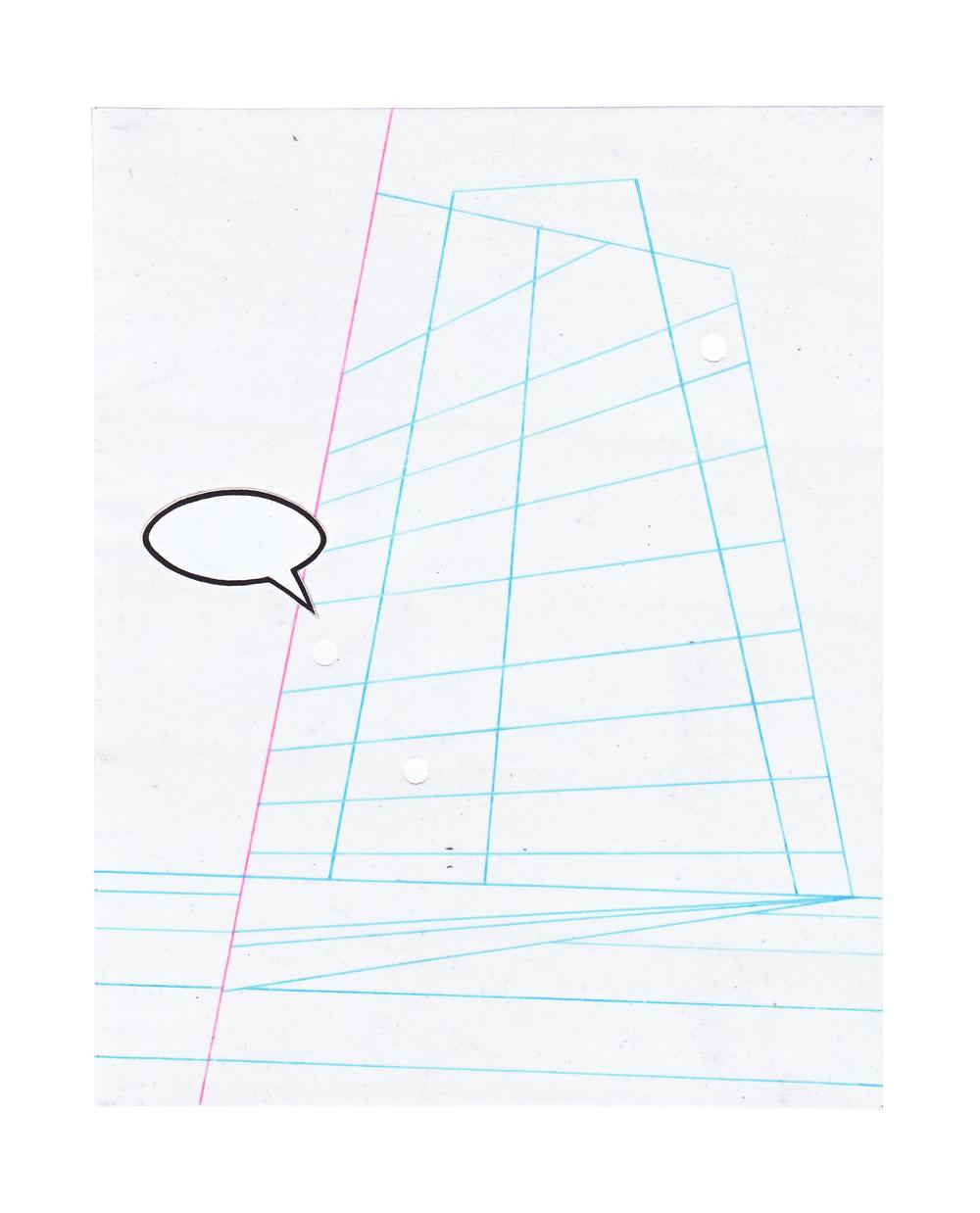 """Untitled  Acrylic paint  8.5"""" X 11"""" 2010"""